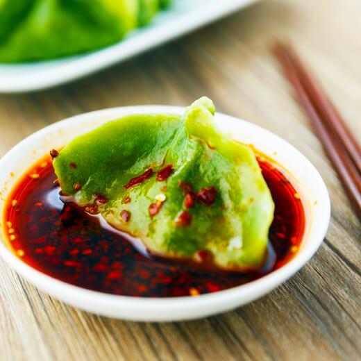 翡翠猪肉饺子
