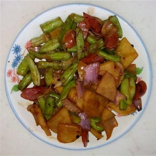 刀豆土豆炒腊肠