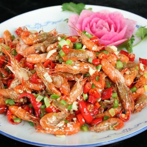 葱姜炒鲥虾