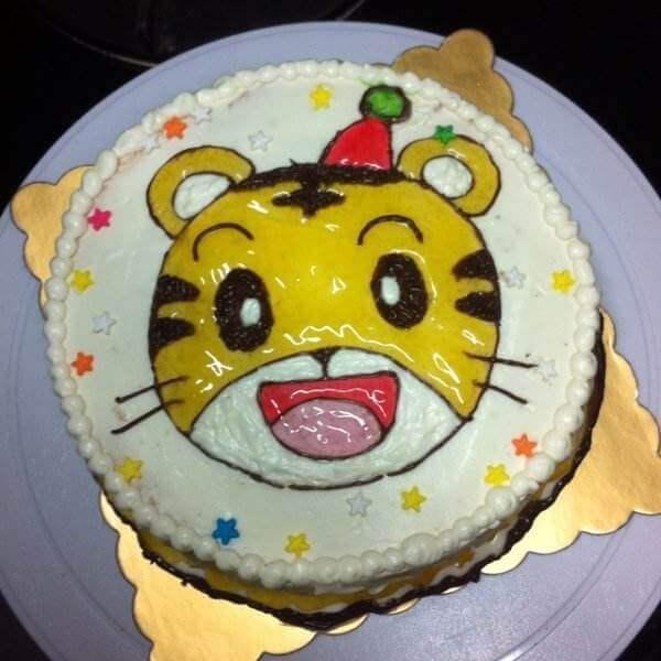 巧虎型裱花蛋糕