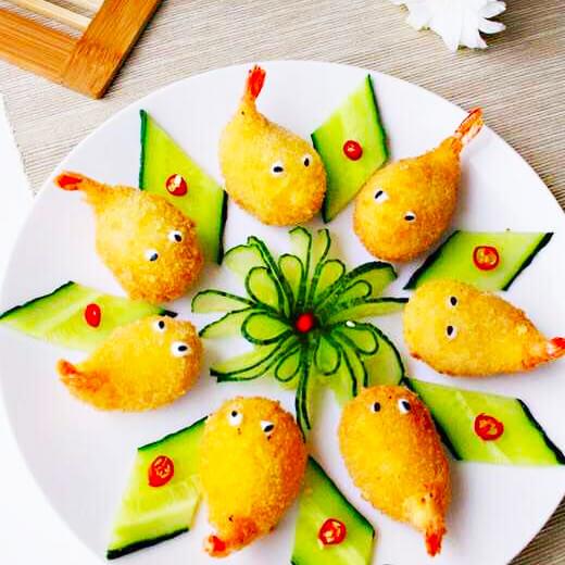 黄油芝士烩虾尾