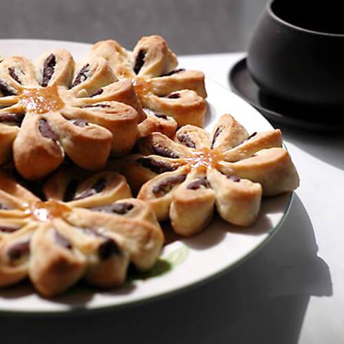 红豆沙菊花酥