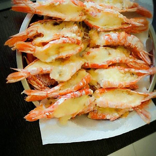 芝士焗红虾