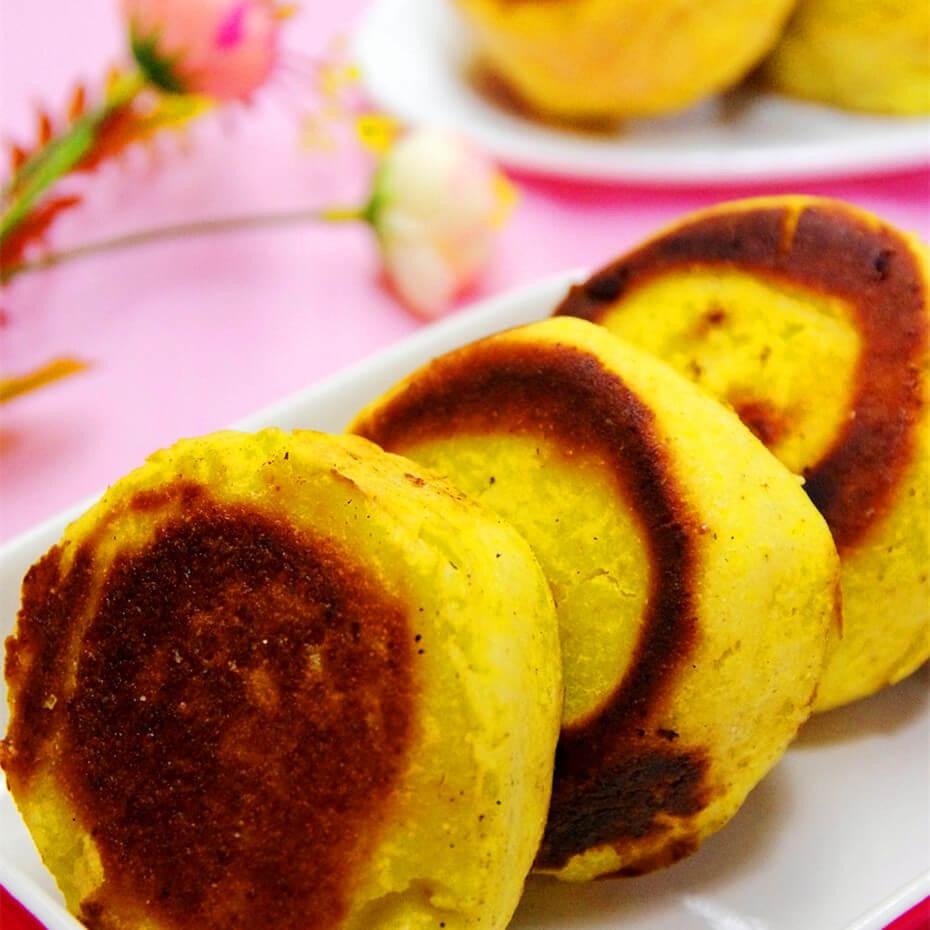 肉松玉米面发面饼