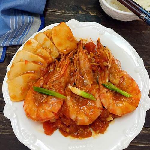 甜辣油焖虾