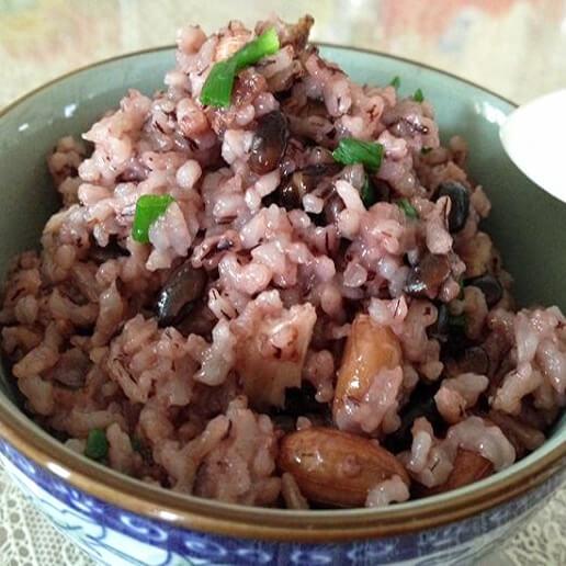 好吃的黑豆饭猪肝粥