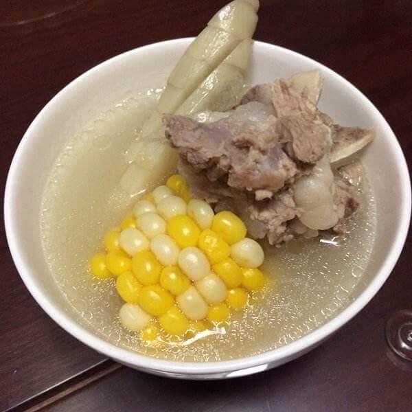 红参根筒骨汤