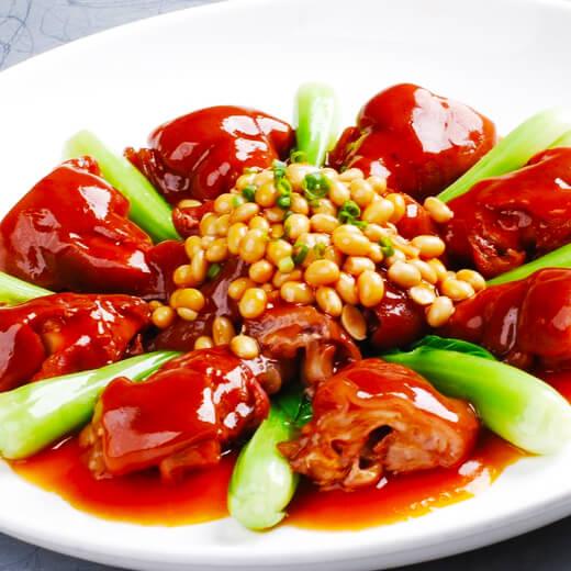 芥菜炒黄豆猪脚