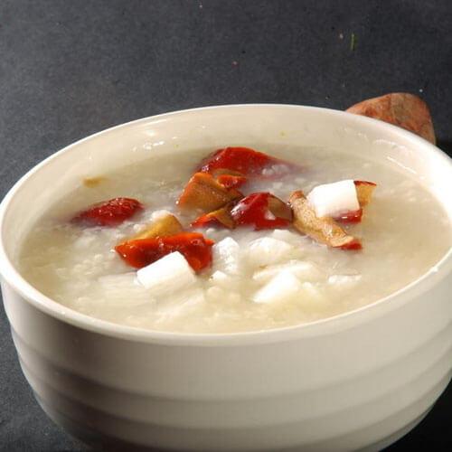 菱角芡实红薯粥