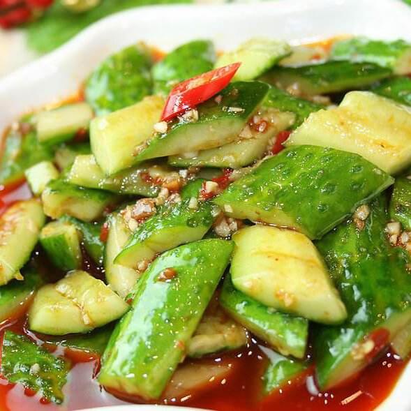 红辣椒拌黄瓜