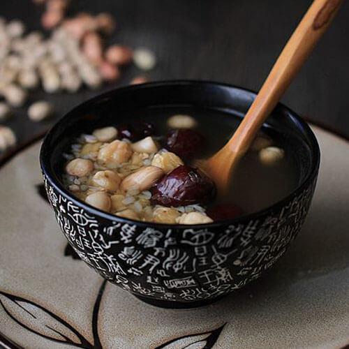 红枣核桃鹰嘴豆糊