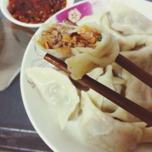 韩式辣白菜牛肉煎饺