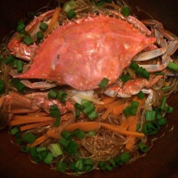 味美的梭子蟹蒸粉丝