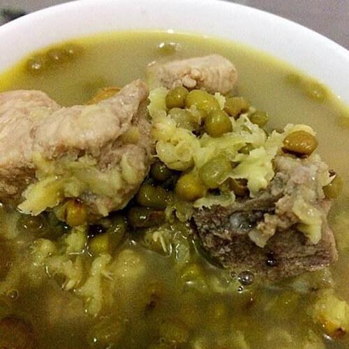 腊肉绿豆汤