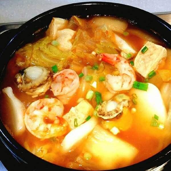 爽口海虾老豆腐煲
