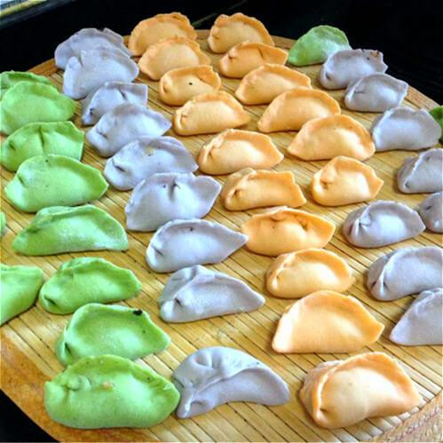 宝宝彩色饺子