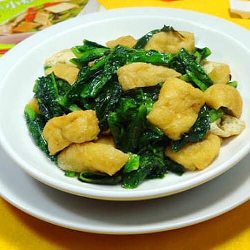 油豆腐炒莴笋叶