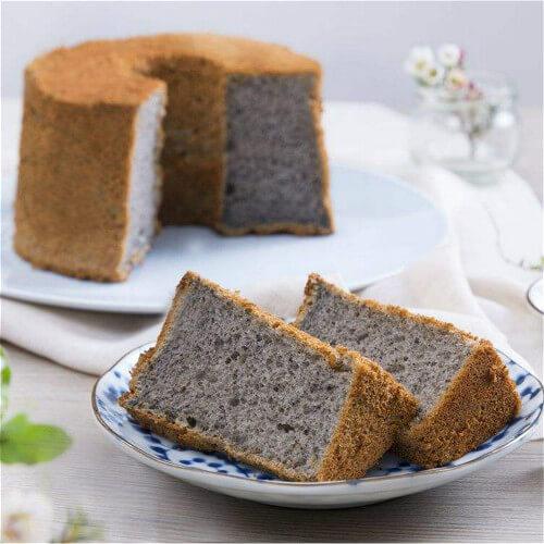 黑芝麻戚风蒸蛋糕