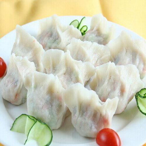 美味韭菜混合饺
