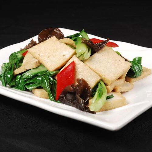 豆腐炒红薯叶