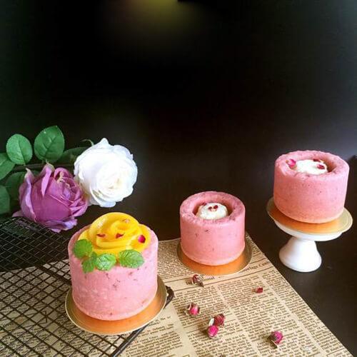 水果冰激凌玫瑰蛋糕