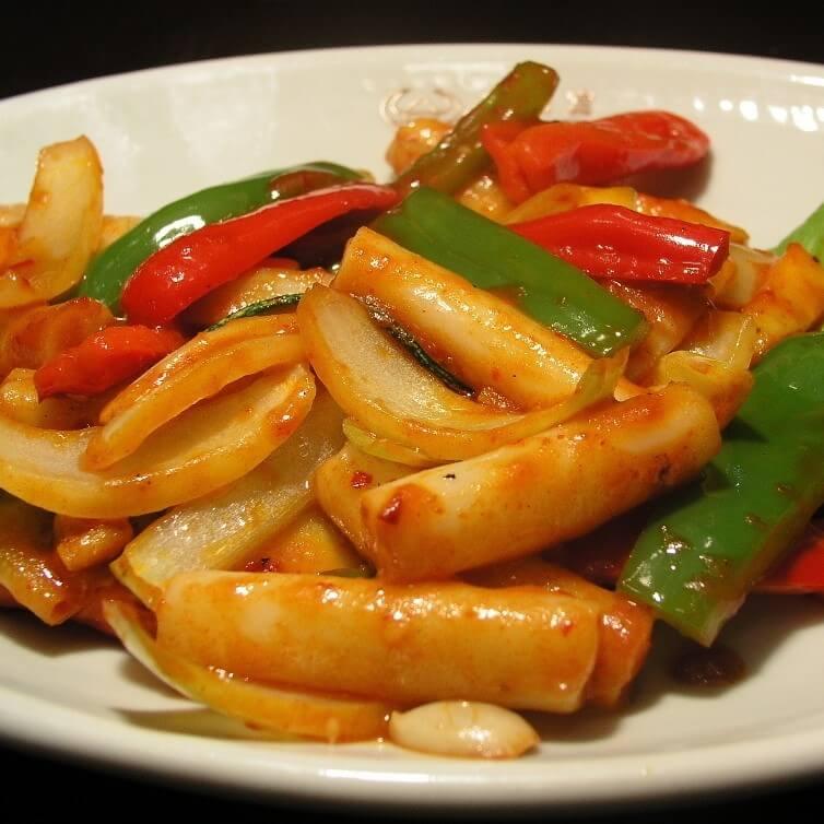 美味尖椒馒头炒肉