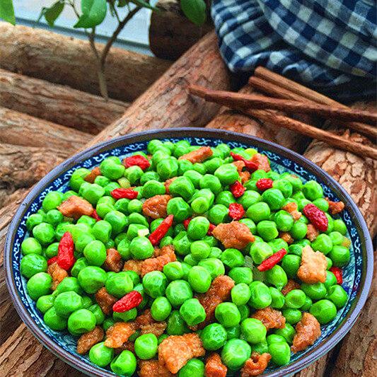 好吃的豌豆枸杞炒肉