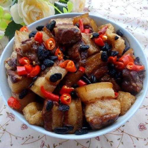 油豆腐生蒸肉