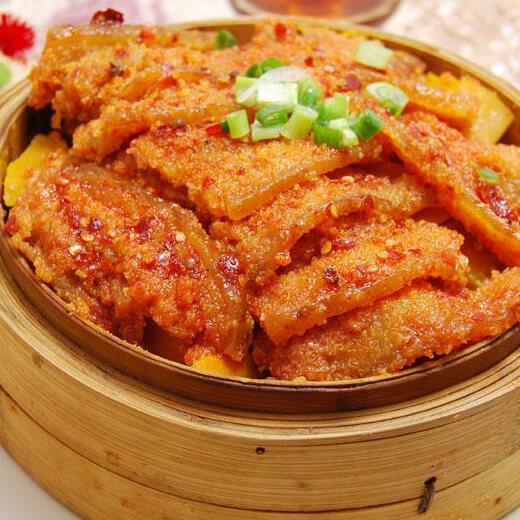 鱼香草蒸瘦肉