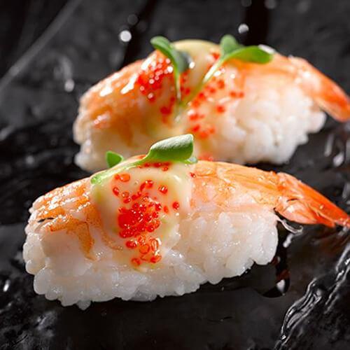 珍馐美味鲜虾肉松寿司