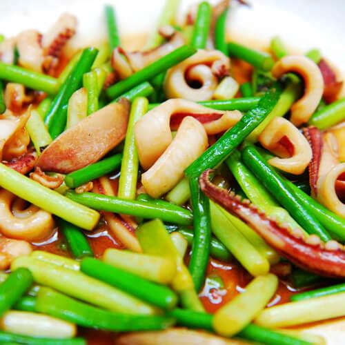 青椒炒瘦肉鱿鱼