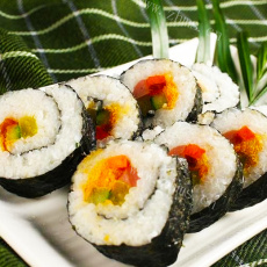 美味的紫菜招牌寿司