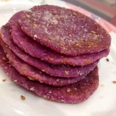 紫薯糯米软麻饼