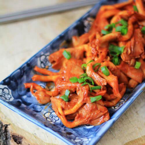 好吃的韩式炒蘑菇