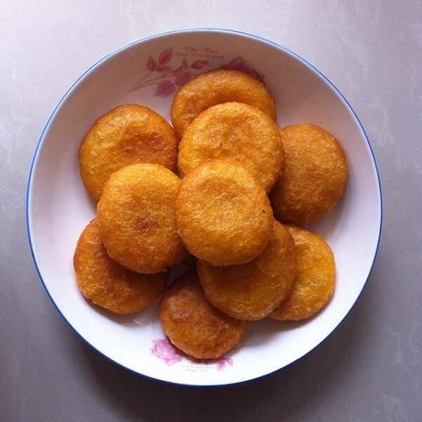 可口的南瓜面小圆饼