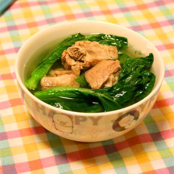 营养汤菜心排骨汤