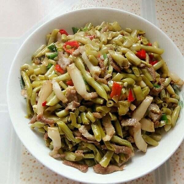 肉片酸豇豆
