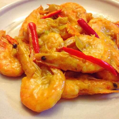 鲜香苹果咖喱虾