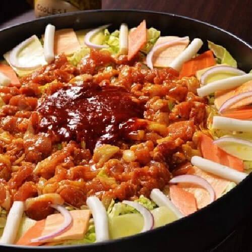 韩式料理韩式铁板鸡