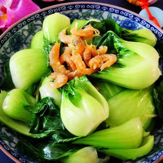 美味的蒜头炒上海青