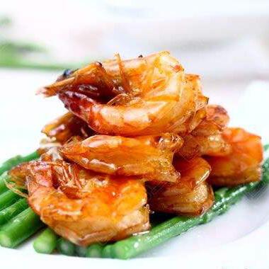 糖桂花蜜汁大虾