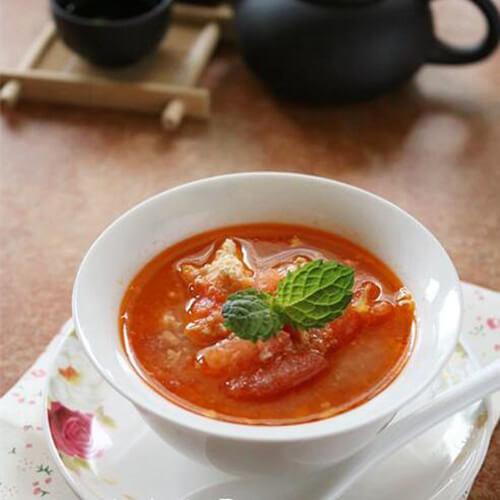 番茄肉末双蛋浓汤