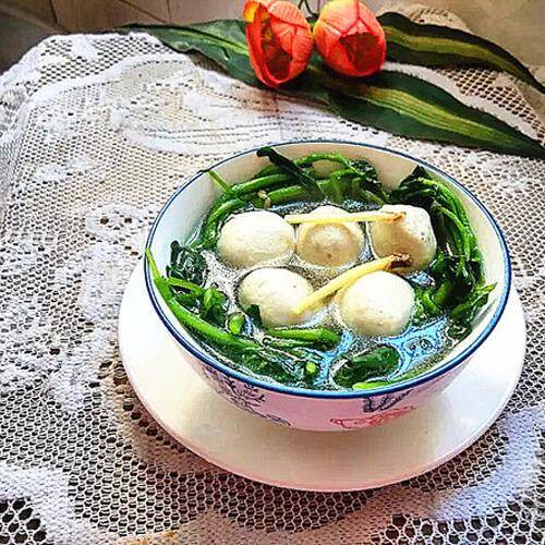 西洋菜鸡肉丸汤