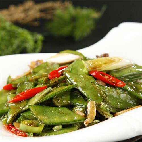 荞菜炒荷兰豆