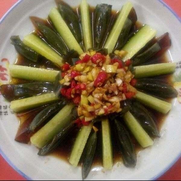 完美的黄瓜变蛋拌荆芥