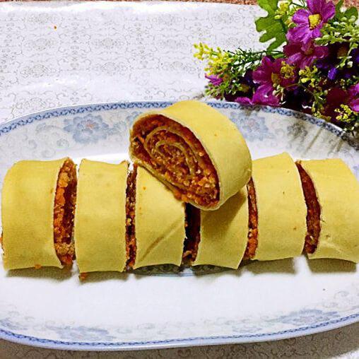 美味的沙茶豆腐卷