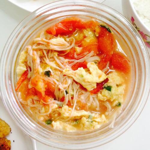 金针菇瘦肉鸡蛋汤