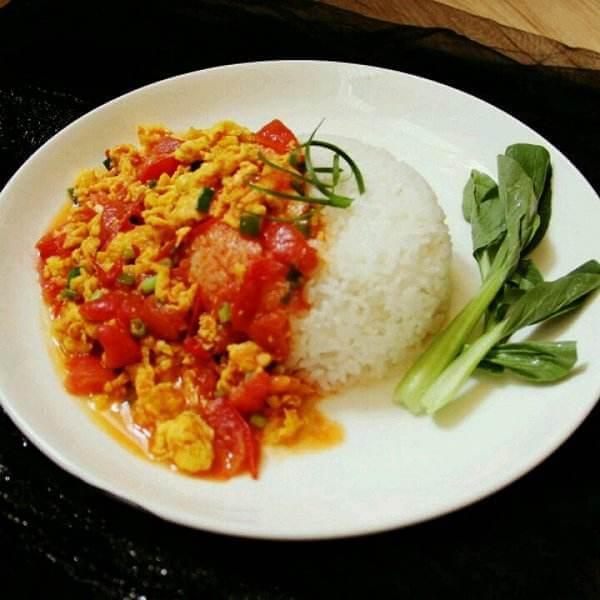 西红柿炒蛋盖饭