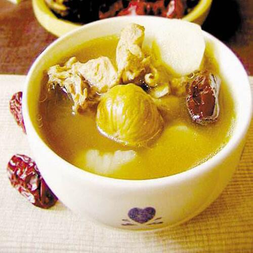 板粟红枣家鸡汤