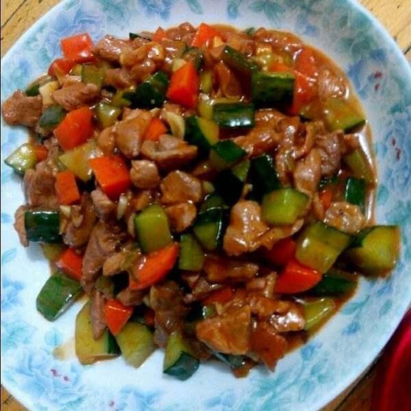 美食的毕节宫爆肉美味什弗朗孔泰图片